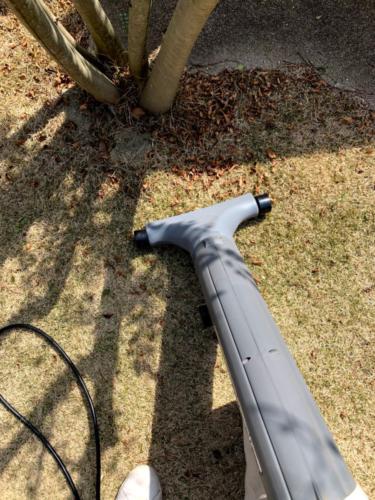 2020年3月 芝生の落ち葉処理